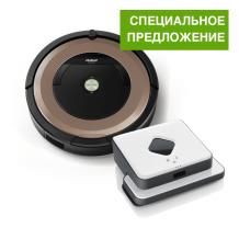 Roomba 895 + Braava 390T СПЕЦ