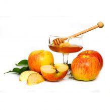 яблоки с медом и нугой