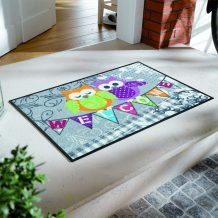 Коврик для дома wash+dry Welcome Owls 50x75-1